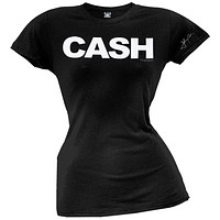 Johnny Cash - Black Juniors T-Shirt