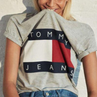 Tommy men and women classic tee shirt T-shirt