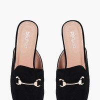 Isobel Slip On Loafer Mule | Boohoo
