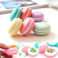 6 PCS Lovely Style SD Card Macarons Mini Earphone Bag  Carrying Pouch Storage Case (Color: Multicolor) [8070932039]