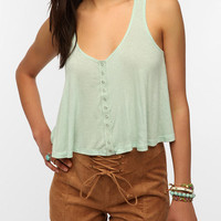 Urban Outfitters - Daydreamer LA Snap-Front Swing Tank Top