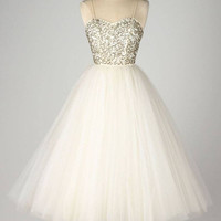 A Line White Homecoming Dress, Homecoming Dress 2016
