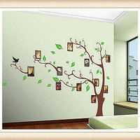 Brown Tree Frame Memory Tree Wall Decal Wall Sticker Home Decal Home Sticker