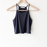 Crop Tank Top - Black