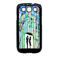 Love Song Romantic In The Rain Paint Samsung Galaxy S3 Case