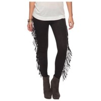 Faux Suede High Waisted Fringe Leggings Forever 21