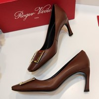 Roger Vivier  Women Fashion Simple Casual High Heeled Shoes