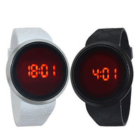 Fashion Waterproof Men Watch LED Touch Screen Date Silicone Wrist Watch