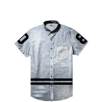 Civil - Team Trash Denim SS Button Up - Denim