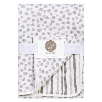 Baby Swaddle Blanket  - Gray Cloud Knitted Baby Blanket