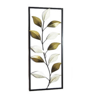 Framed Leaves Metal Wall Decor