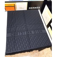 DIOR Fashion New More Letter Print Leisure Scarf Women Black No Box