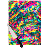 "Danny Ivan ""Wild Abstract"" Rainbow Illustration Cutting Board"