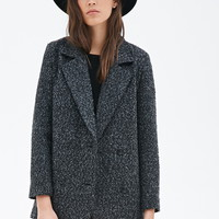 Bouclé Boxy Double-Breasted Coat | Forever 21 - 2055879975