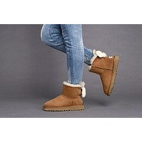 Fashion UGG Classic Boots CHESTNUT ARIELLE 1019625