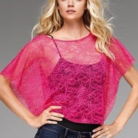 Lace-jersey Boatneck Top