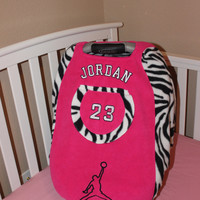 Zebra Jordan theme Winter Weight Carrier Cover