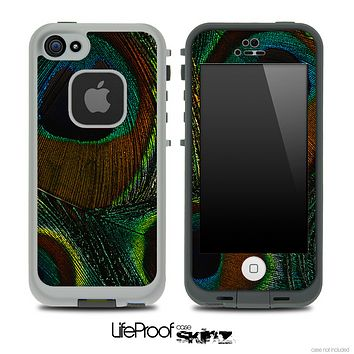 Peacock Multiple Feathers Skin for the iPhone 5 or 4/4s LifeProof Case