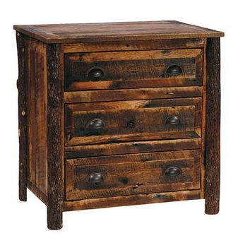 Barnwood Three Drawer Chest