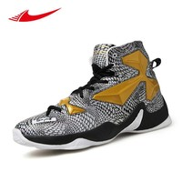 Pop Breathable Men Basketball Shoes High Ankle Sport Sneakers Lebron Training Boots Ba