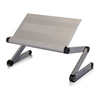 Silver Adjustable Premium Aluminum Folding Laptop Desk