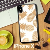 Gold Pineapple E1460 iPhone X Case