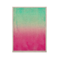 "Monika Strigel ""Sunny Melon"" Aqua Magenta KESS Naturals Canvas (Frame not Included)"