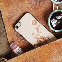 Understated Leather x Free People Womens Branded Leather iPhone Case