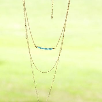 Delicate Days Silver & Gold Layered Stone Necklaces