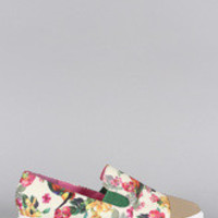 Women's Priveleged Floral Toe Cap Pointy Toe Loafer Flat