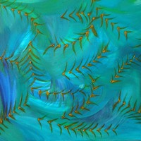 Endless Flow - Green and Blue, 2015 by Mirit Levin