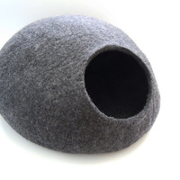 Hand-felted eco friendly cat bed S, M, L or XL sizes