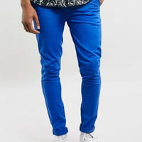 NAUTICAL BLUE SPRAY ON CHINOS - Men's Chinos - Clothing - TOPMAN USA
