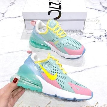 NIKE AIR MAX 270 2019 new gradient rainbow half palm cushion wild shock absorbing shoes