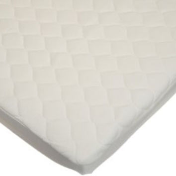 American Baby Company Waterproof Quilted Portable/Mini Crib Size Fitted Mattress Cover made with Organic Cotton, Natural Color