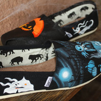 Nightmare Before Christmas Original Custom Acrylic Painting for Toms/Canvas Shoes