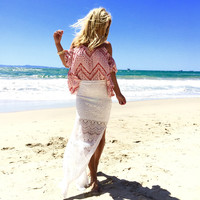 Lace Affair Maxi Skirt In Ivory