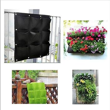 9 Pockets Planter On Wall