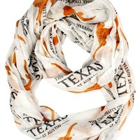 Texas Longhorns NCAA Sheer Infinity Logo Scarf ~ NEW