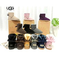 UGG single ribbon lightweight and comfortable warm snow boots