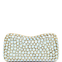 Small Embellished Clutch with Swarovski Crystals