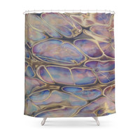 Society6 Oil Slick Shower Curtain