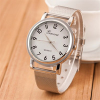 Womens Girls Unique Classic Casual Sports Watches with Diamond Silver Alloy Strap Watch Best Christmas Gift 394