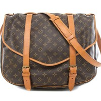 Authentic Louis Vuitton Monogram Canvas Saumur 43 Bag M42252