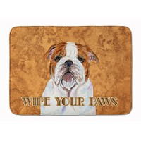 Bulldog English Wipe your Paws Machine Washable Memory Foam Mat SS4896RUG