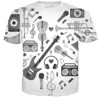 Black and white music shirt