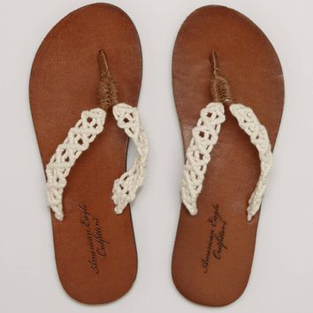 AEO Braided Flip-Flop   American Eagle Outfitters
