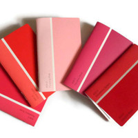 Mini Paint Chip Notebooks Shades of Pink Notebook Upcycled
