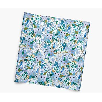 Garden Party Blue Continuous Wrapping Roll