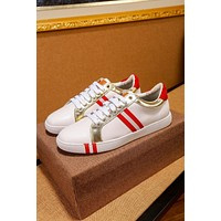 Bally Helvio Men's Leather Trainer In White Sneakers Shoes - Sale